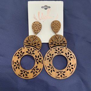 Wooden Fashion Dangle Drop Earrings